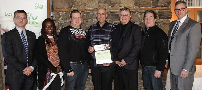 Grand Prix 2015 Sante et Securite du travail Ville de Salaberry-de-Valleyfield Photo courtoisie CSST