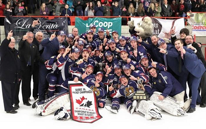 Grenadiers de Chateauguay Hockey Midget AAA du Qc Champions 2015 Photo courtoisie