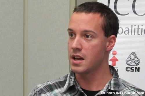 Mathieu_Lafleur du conseil central de la CSN Monteregie Photo INFOSuroit_com