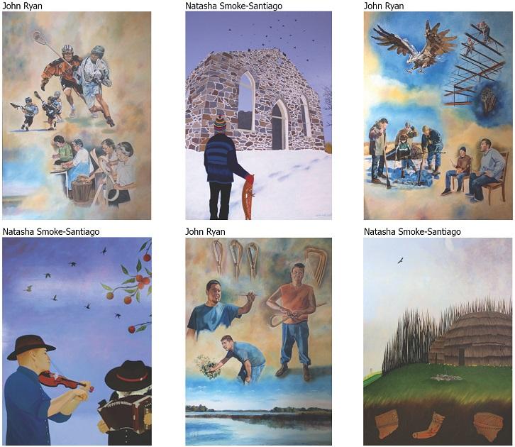 Oeuvres-des-artistes-Natasha-Smoke-Santiago-et-John-Ryan-photos-courtoisies-publiees-par-INFOSuroit_com