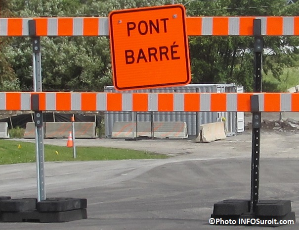Signalisation pont barre Photo INFOSuroit_com