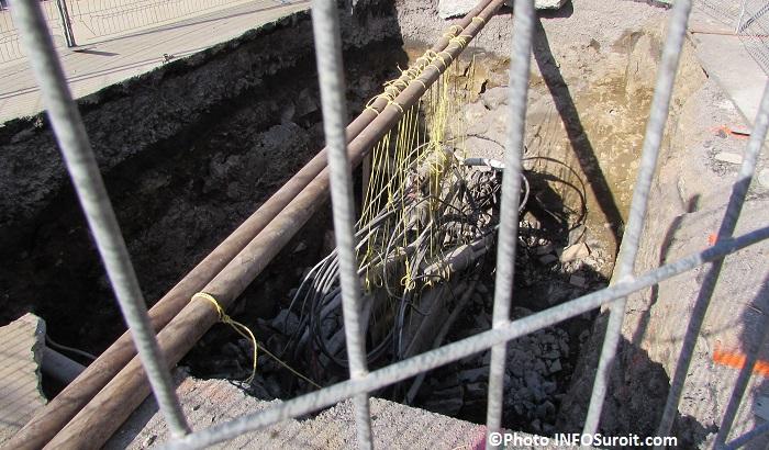 enfouissement de fils rue Principale a Chateauguay Photo INFOSuroit_com