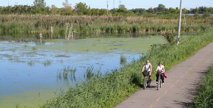 pistes cyclables Parc regional de Beauharnois-Salaberry cyclistes Photo courtoisie MRC