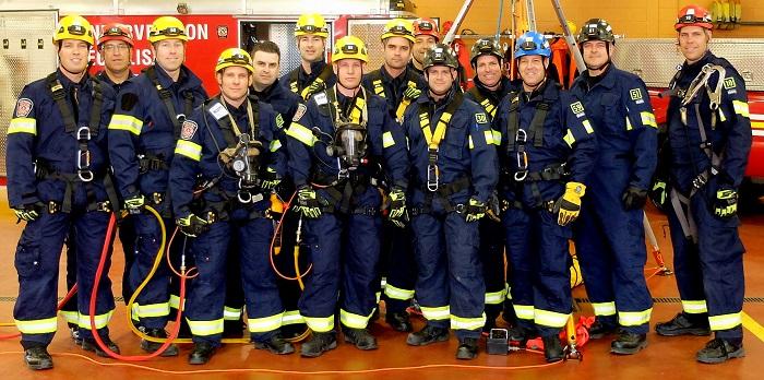 pompiers de Chateauguay ont recu la formation sauvetage en espace clos - Photo Division des Communications
