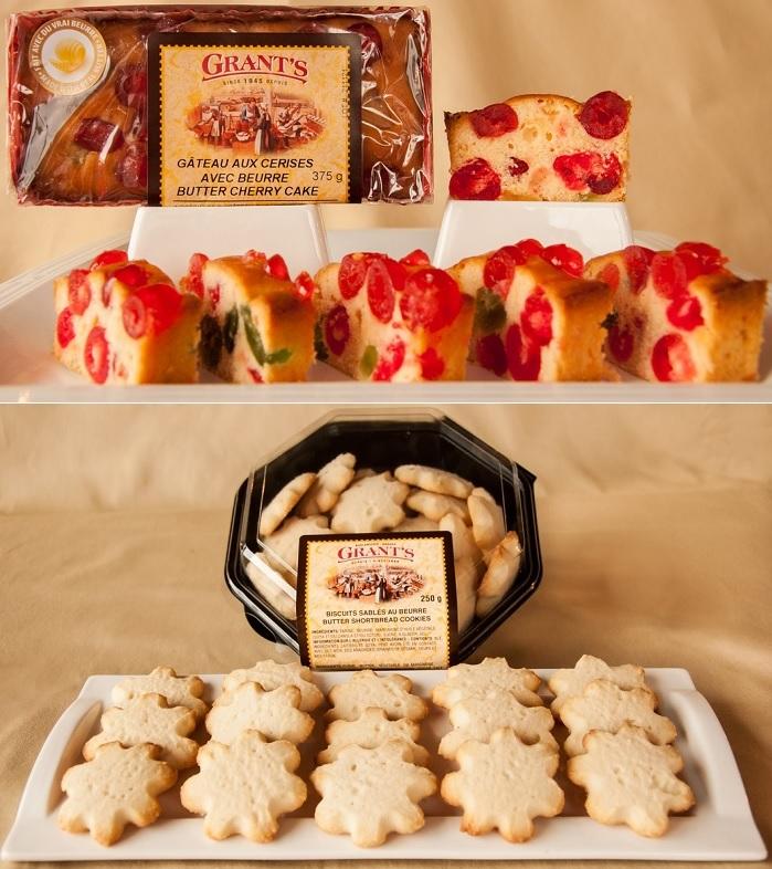 Boulangerie Grant Gateau aux cerises et Biscuits au beurre Photos courtoisie via site Web BoulangerieGrant_ca