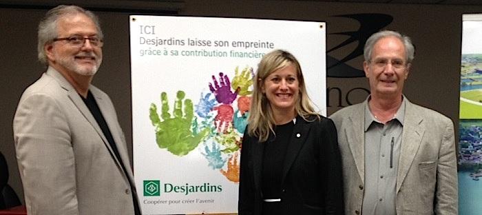 Coop Beauharnois en sante C_Haineault maire N_Tremblay dg caisse Desjardins et F_Leduc president coop Photo courtoisie