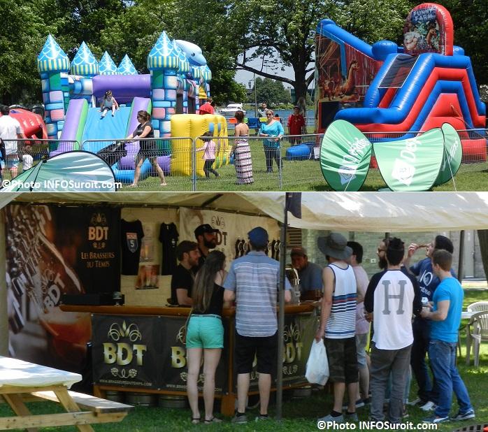 FestiBieres du Suroit 2015 jeux gonflables famille et kiosque BDT Photos INFOSuroit_com