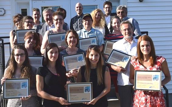 Fonds culturel 2015 de la MRC Beauharnois-Salaberry laureats et membres du conseil Photo courtoisie