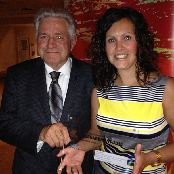 Le maire de Rigaud Hans_Gruenwald_Jr et Veronique_Cunche Photo courtoisie