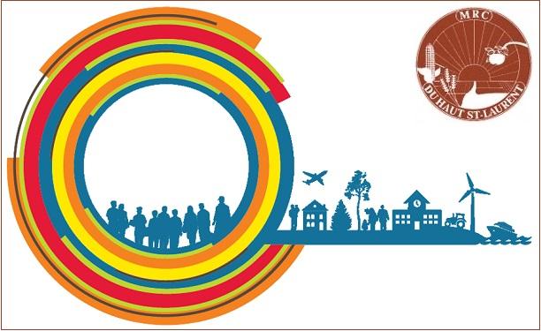 Politique nationale de la ruralite 2014-2024 cercle seul et logo MRC Haut-Saint-Laurent