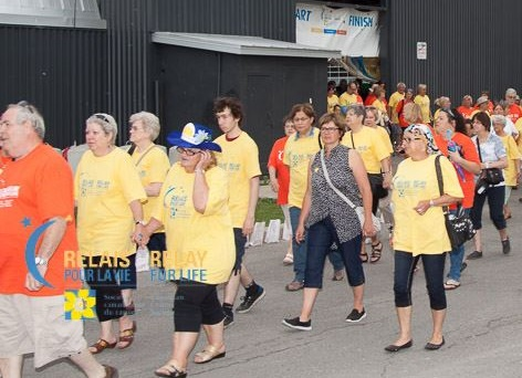 Relaispourlavie de Chateauguay le tour des survivants 2015 Photo courtoisie SCC