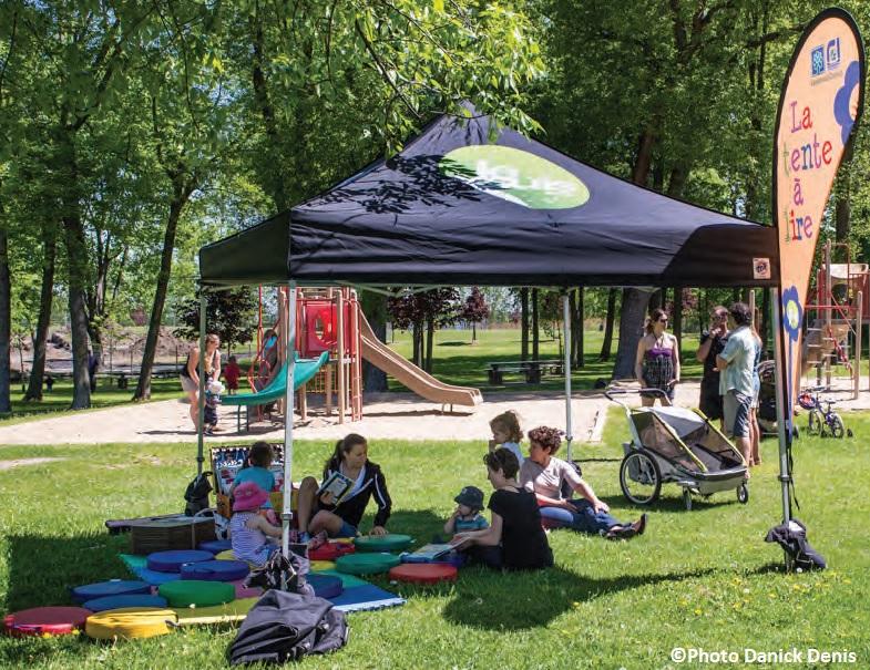 Tente_a_lire dans les parcs Photo Danick_Denis via Ville Vaudreuil-Dorion