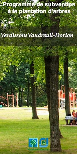 Vaudreuil-Dorion depliant Programme de subvention plantation d arbres Image publiee par INFOSuroit_com