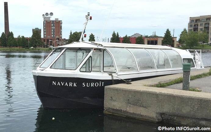 bateau de croisiere Navark Suroit au centre-ville Valleyfield Photo INFOSuroit_com
