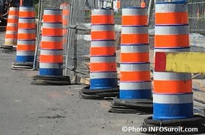 cones oranges travaux signalisation detour Photo INFOSuroit_com