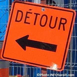 detour panneau de signalisation travaux Photo INFOSuroit_com