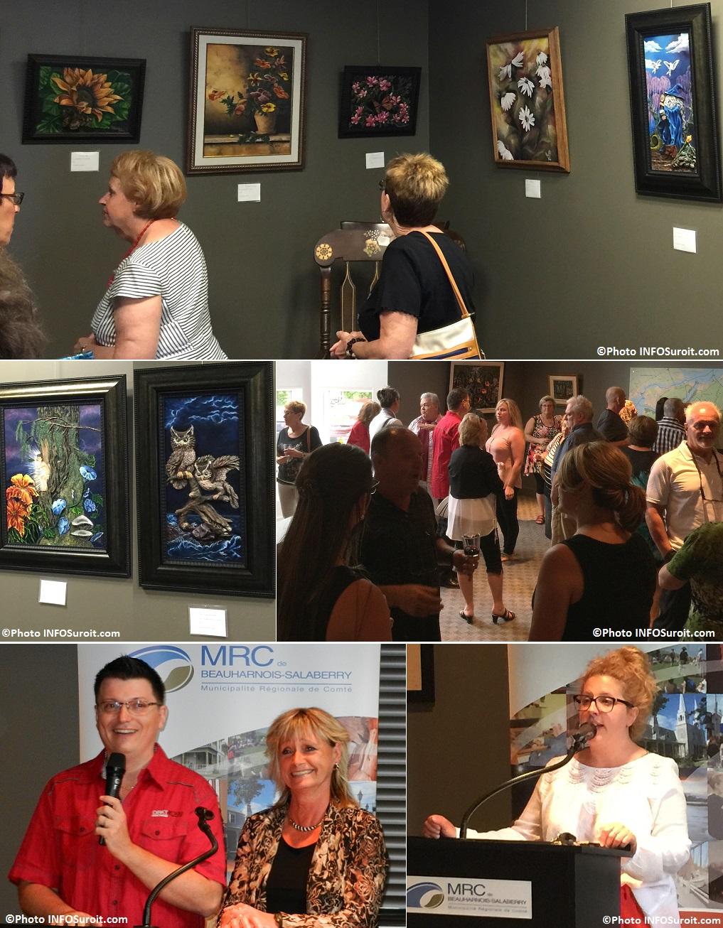 exposition Monique_Laframboise et Marc_Blondin a la galerie de la MRC avec visiteurs et KLanderman Photos INFOSuroit_com