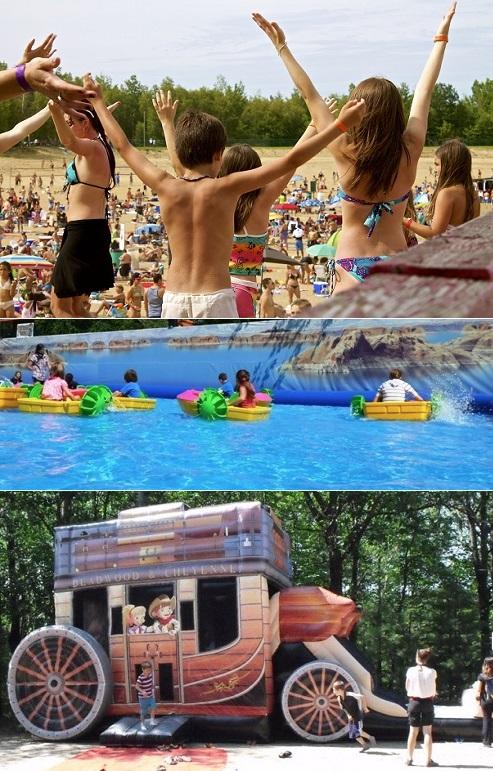 famille plage party et concours bassin pedalos jeux gonflables Sherif-Ville Photos courtoisie Tourisme_Suroit