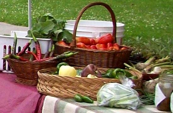 legumes Marche Fermier comte Huntingdon a Riviere Chateauguay en fete Photo courtoisie