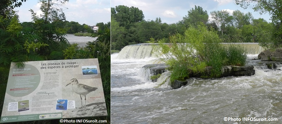 panneau interpretation halte Domain-de-la-Peche-au-Saumon et riviere Chateauguay Photos INFOSuroit_com