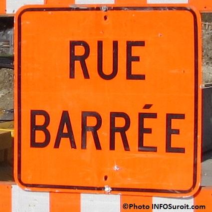 signalisation enseigne rue barree detour travaux Photo INFOSuroit_com