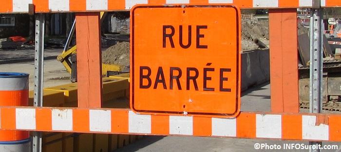 signalisation rue barree fermeture detour travaux Photo INFOSuroit_com