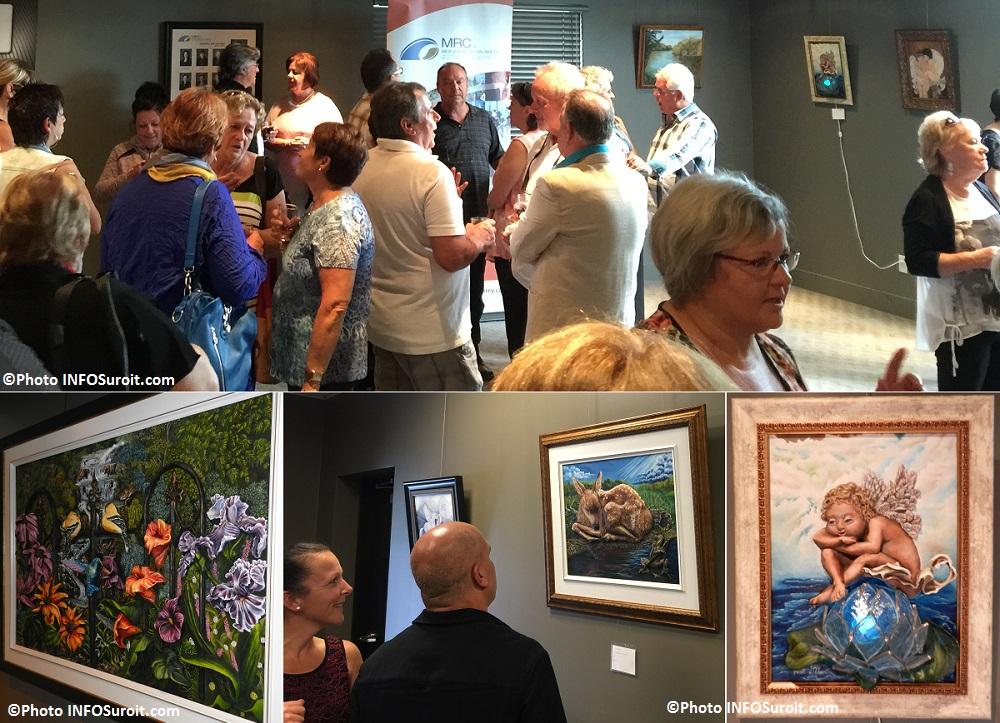 vernissage oeuvres MLaframboise et MBlondin galerie_d_art MRC Beauharnois Photos INFOSuroit_com