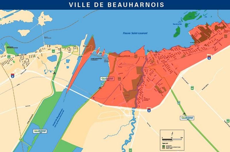 Beauharnois Zone touchee par interruption alimentation en eau Image courtoisie