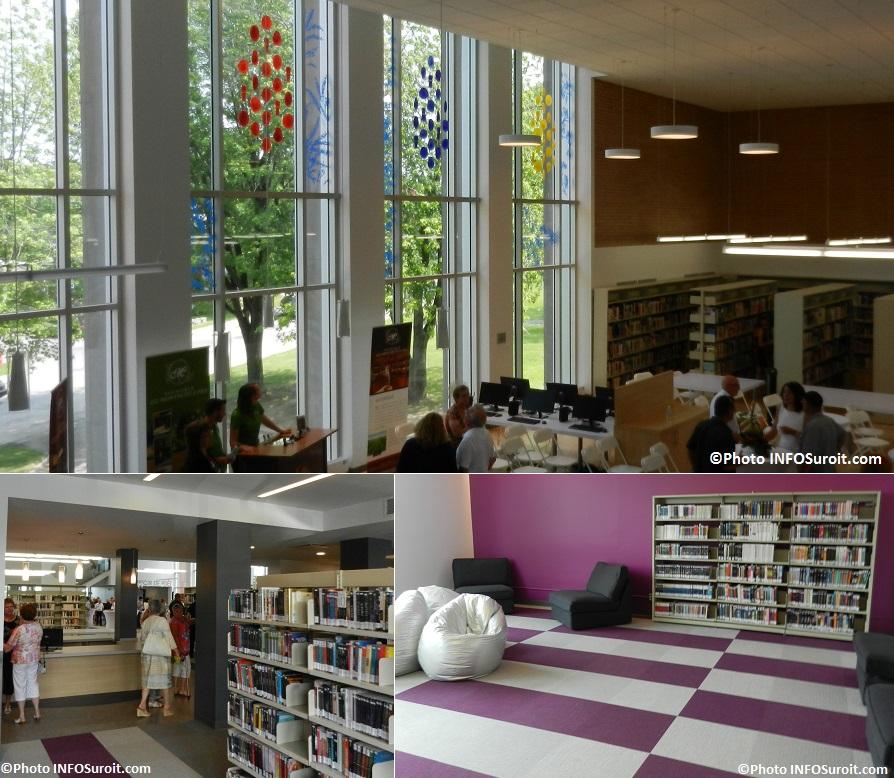 Bibliotheque Beauharnois oeuvre d art de Claire_Beaulieu livres et Coin ados Photos INFOSuroit