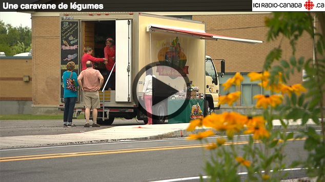Caravane de legumes reportage de Radio-Canada capture d ecran