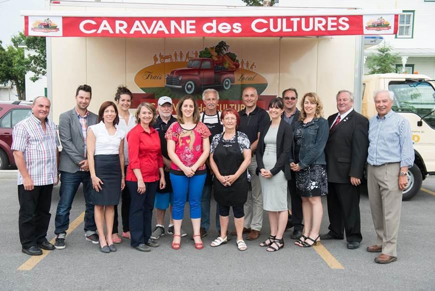 Caravanes_des_cultures lancement 2015 partenaires Photo courtoisie CLD Jardins-de-Napierville