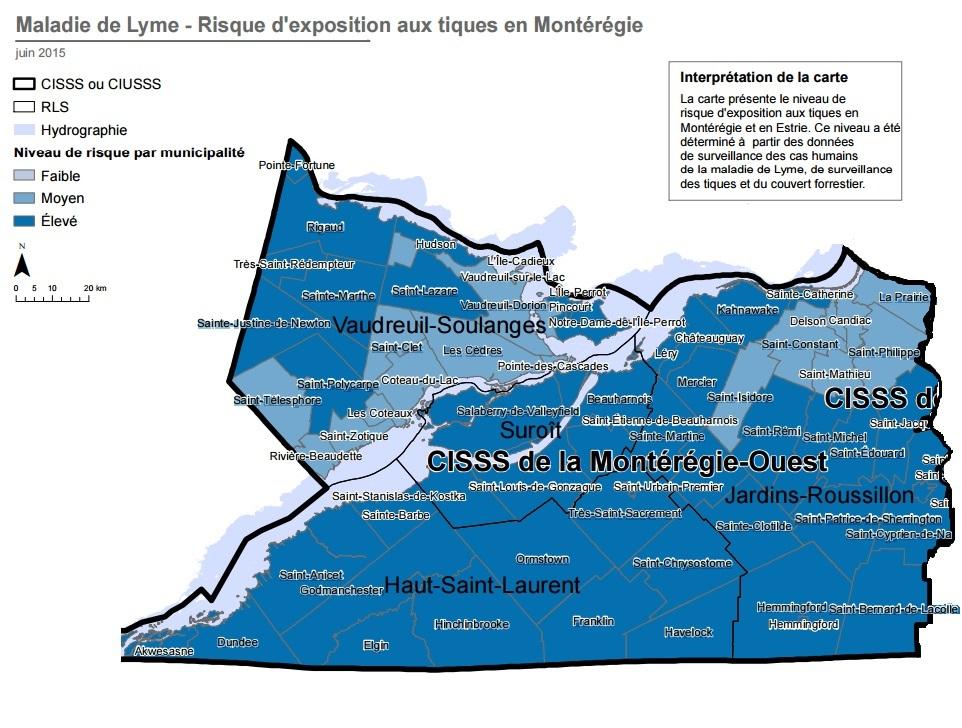 Carte-risque-exposition-aux-tiques-maladie-Lyme-Monteregie-ouest-photo-courtoisie-publiee-par-INFOSuroit_com