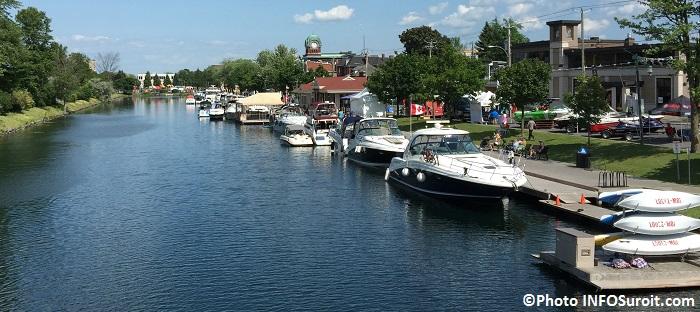 Vieux canal de Beauharnois centre-ville Valleyfield bateaux terrasse Photo INFOSuroit
