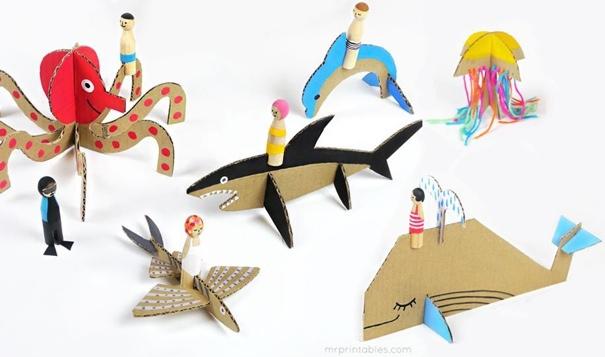 atelier creatif au MUSO sur Monstres marins Image courtoisie MUSO via MrPrintables