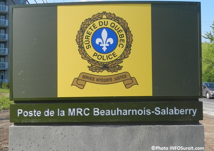 enseigne SQ police Surete du Qc MRC Beauharnois-Salaberry Photo INFOSuroit