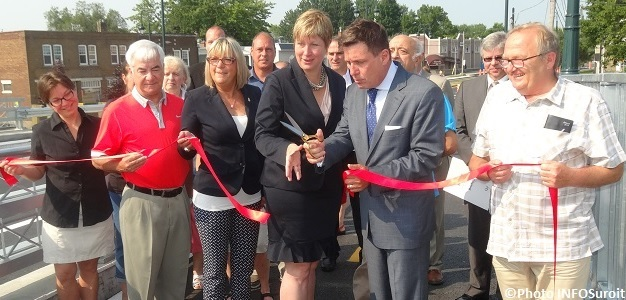 inauguration officielle pont Arthur-Laberge a Chateauguay juillet 2015 Photo INFOSuroit