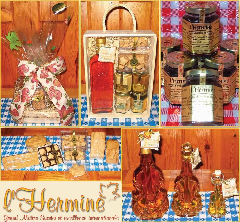 Cabane a sucre L_Hermine produits de l erable Photo courtoisie L_Hermine