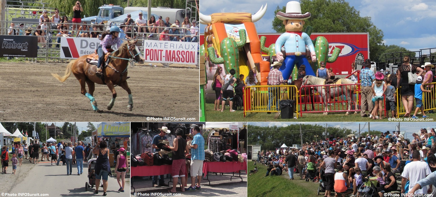 Rodeo Valleyfield cheval epreuve equestre jeux gonflables kiosques spectateurs Photos INFOSuroit_com