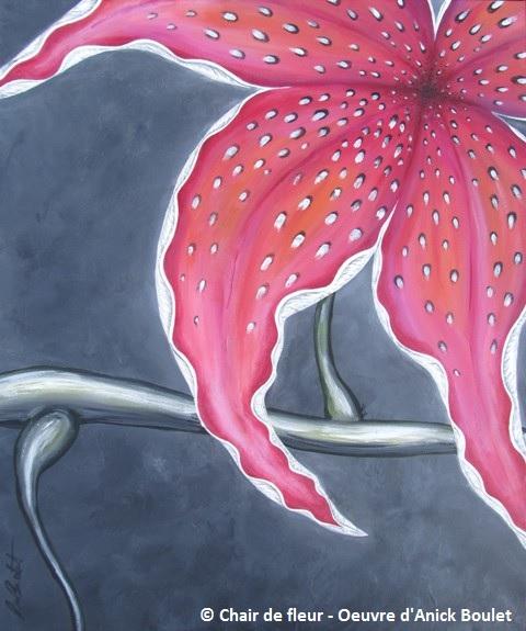 tableau Chair de fleur Photo courtoisie AnickBoulet_com