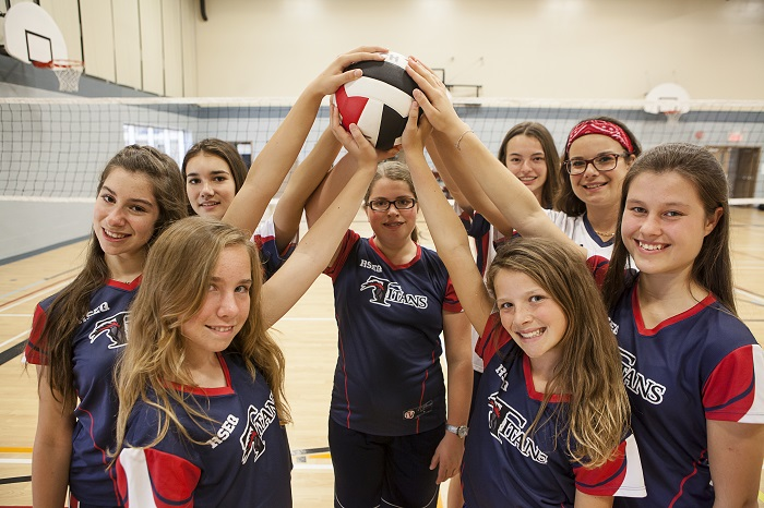 College Heritage Chateauguay eleves equipe Volleyball Titans Photo courtoisie