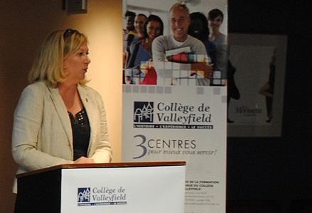 College de Valleyfield Marie_Barrette lancement Formation continue Photo courtoisie