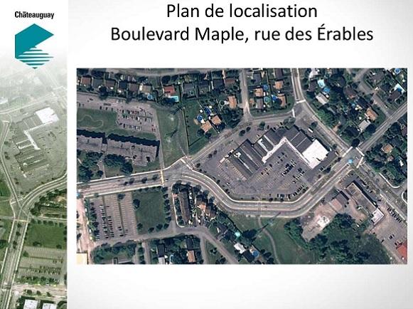 Reamenagement boul Maple Chateauguay Localisation Image courtoisie Ville de Chateauguay