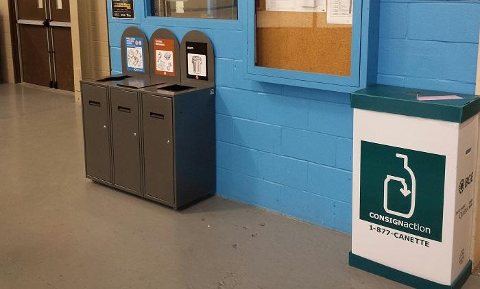 Beauharnois bacs recuperation recyclage et dechets arena Photos courtoisie