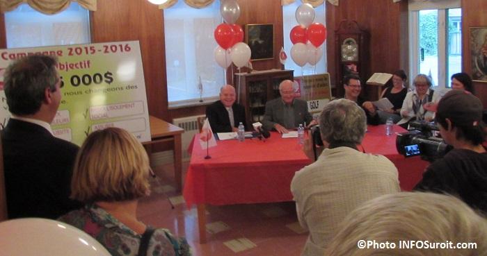 Centraide Sud-Ouest A_Lafleur J_Pilon et S_Hickey devoilement campagne 2015-2016 Photo INFOSuroit