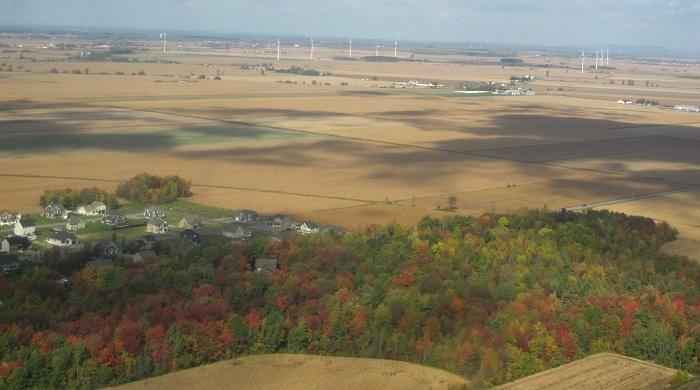Coop des Frontieres lancement a Ste-Martine paysages automne via Heli_Mistral Photo courtoisie