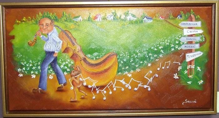 artiste-peintre Guylaine_Sauve tableau La deroute musicale Photo courtoisie MRC