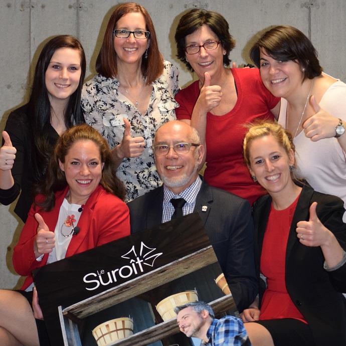 membres de l equipe de Tourisme Suroit lancement 2015-2016 Photo courtoisie