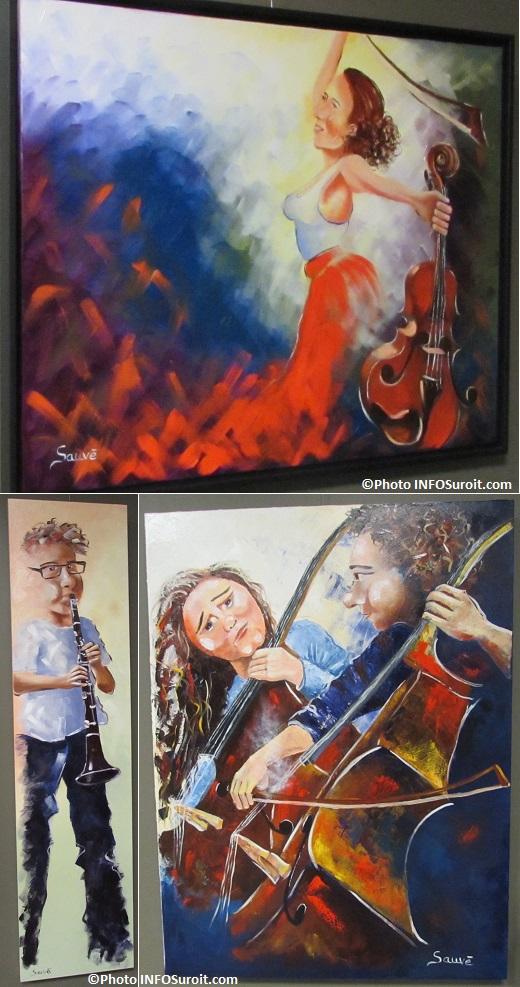 oeuvres de l artiste Guylaine_Sauve a la galerie de la MRC Photo INFOSuroit_com