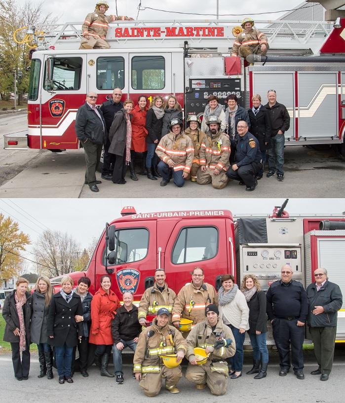 pompiers Ste-Martine et St-Urbain barrage Fondation Anna-Laberge 2014 Photos FAL