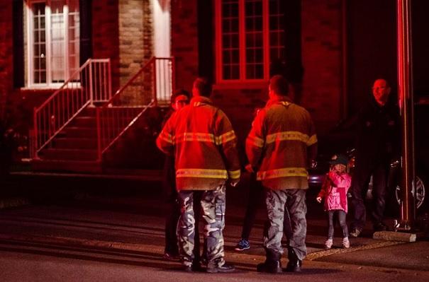 pompiers grande evacuation a Valleyfield Photo courtoisie SdV